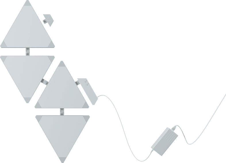 NANOLEAF Light Panels Rhythm Edition Smarter Kit - 4 Panels Beleuchtung , Weiß