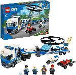 MediaMarkt LEGO 60244 Polizeihubschrauber-Transport Bausatz, Mehrfarbig