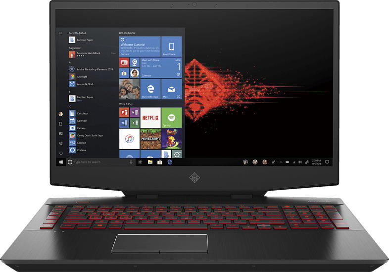 HP OMEN by HP 17-cb1378ng, Gaming Notebook mit 17.3 Zoll Display, Core™ i7 Prozessor, 16 GB RAM, 512 GB SSD, GeForce RTX™ 2070, Schwarz
