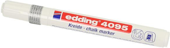 "EDDING Kreidemarker ""4095"" Rundspitze 2-3 mm weiß"