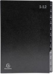 EXACOMPTA Pultordner A4 1-12 Taben schwarz