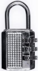 Zahlenschloss 3-stellig silber