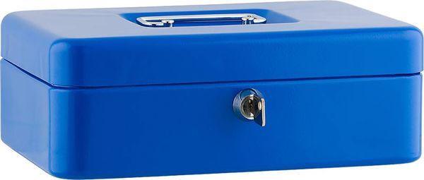 """SAX Geldkassette """"L"""" 25 x 18 x 9 cm blau"""