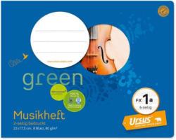 """URSUS GREEN Musikheft 22 x 17,5 cm """"FX1a"""" 8 Blatt blau"""