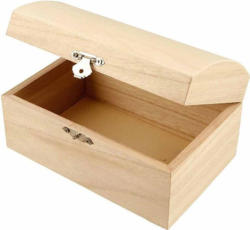 Holztruhe 16,5 x 11 x 8,5 cm braun