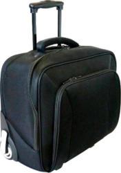 Businesstrolley mit Laptopfach schwarz
