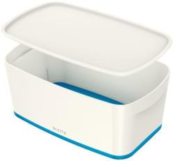 """LEITZ """"My Box"""" Aufbewahrungsbox mit Deckel 5 Liter weiß/blau"""