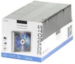 VIVANCO CD Hülle 50 Stück schwarz