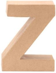 """Papp-Buchstabe """"Z"""" 17,5 cm natur"""