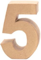 """Papp-Zahl """"5"""" 17,5 cm natur"""