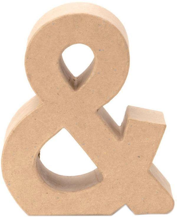 """Papp-Zeichen """"&"""" 17,5 cm natur"""