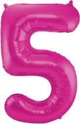 """FOLAT Folienballon """"5"""" magenta"""