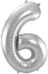 "FOLAT Folienballon ""6"" silber"