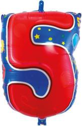 "FOLAT Folienballon ""5"" bunt"