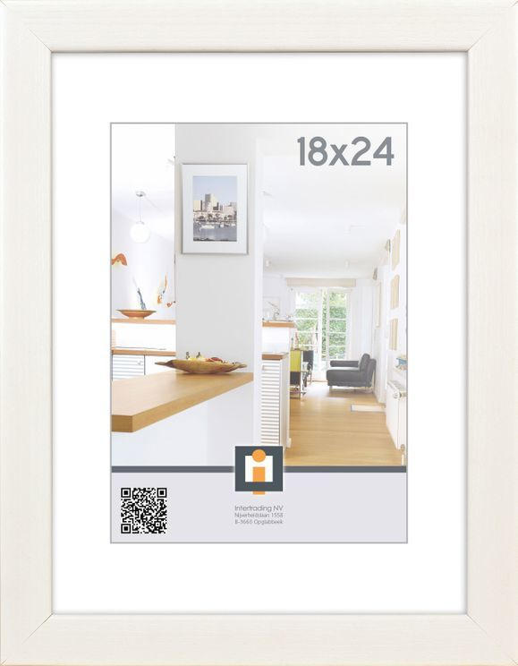 """INTERTRADING Bilderrahmen """"Livorno"""" 18 x 24 cm weiß"""