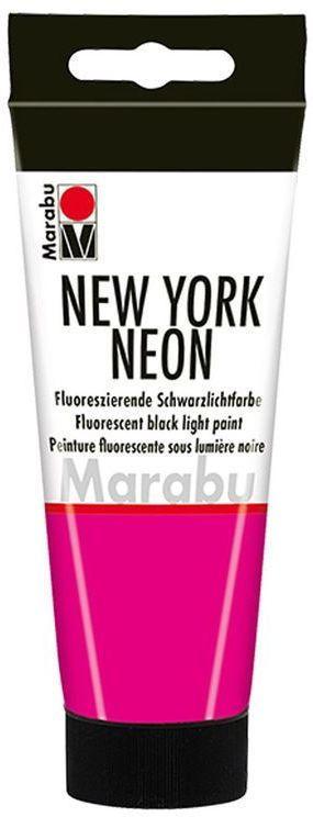 "MARABU Schwarzlichtfarbe ""New York Neon"" 100 ml neonpink"