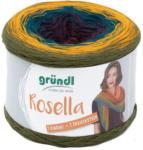 """Pagro GRÜNDL Wolle """"Rosella"""" 200g burgund/blau/gelb/grün"""