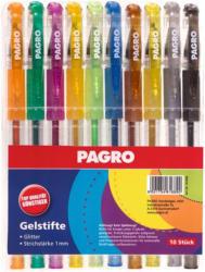 PAGRO Gelstifte 10 Stück glitter