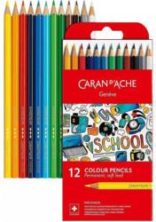 CARAN D'ACHE Buntstifte 12 Stück mehrere Farben