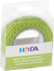 HEYDA Spitzen-Tape 15 mm x 2 m grün
