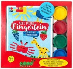 """MARABU Kids Fingerabdruck-Set """"Alle meine Fingerlein"""" 4 x 35 ml mehrere Farben"""