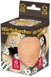 ASS ALTENBURG Lederwürfelbecher-Set mit 6 Würfeln