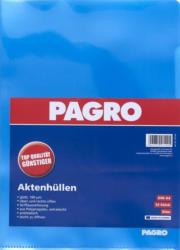 PAGRO Aktenhüllen A4 glatt extrastarkes Material 10 Stück blau