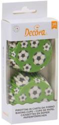 """Papierbackformen """"Fussball"""" 36 Stück grün"""