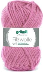 "GRÜNDL Filzwolle ""Uni"" 50g rosa"
