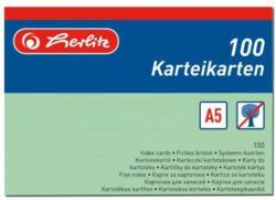 HERLITZ Karteikarten A5 liniert 100 Stück grün