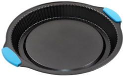 Obstkuchenblech mit Silikongriffen Ø 31 cm schwarz