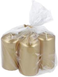 HOFER Stumpenkerzen Ø 5 cm H: 9 cm 4 Stück metallic gold