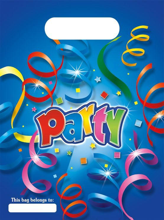 """Partybags """"Party"""" 6 Stück bunt"""
