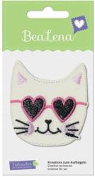 """BEALENA Applikation """"Katze"""" 6 x 6,5 cm weiß"""