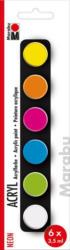 "MARABU Acrylfarben-Set ""Neon"" 6 x 3,5 ml mehrere Farben"