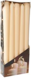 Leuchterkerzen Ø 2 cm H: 25 cm 10 Stück creme