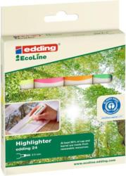 """EDDING Leuchtmarker """"Ecoline 24 Neon"""" 4 Stück mehrere Farben"""