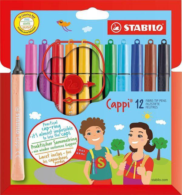 "STABILO Fasermaler ""Cappi"" im Etui 12 Stück mehrere Farben"