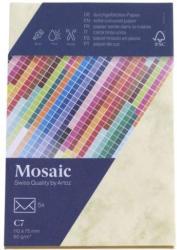 MOSAIC Kuverts C7 5 Stück marmoriert gelb