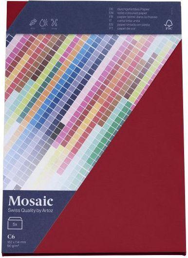 MOSAIC C7 Kuverts 5 Stück weinrot