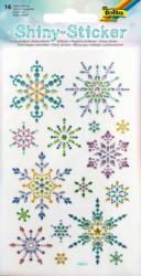 "FOLIA Shiny-Sticker ""Eiskristalle"" 16 Stück bunt"