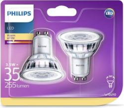 PHILIPS LED-Spot GU10 3,5 Watt warmweiß 2 Stück