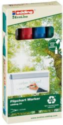 """EDDING Flipchartmarker-Set 31 """"Ecoline"""" Rundspitze 1,5-3 mm mehrere Farben"""