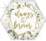 "Pagro Folienballon ""Always & forever"" weiss"