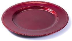 Dekoteller Ø 33 cm rot