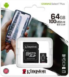KINGSTON Micro-SD Karte 64 GB mit SD-Adapter