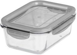 Glas-Frischhaltedoese mit luftdichtem Deckel 0,75 Liter grau