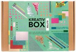 """FOLIA Bastelset """"Kreativ Box Glitter Mix"""" 900 Teile bunt"""