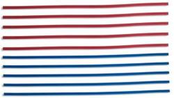 Nasenclips für Masken 3 mm 10 Stück rot/blau