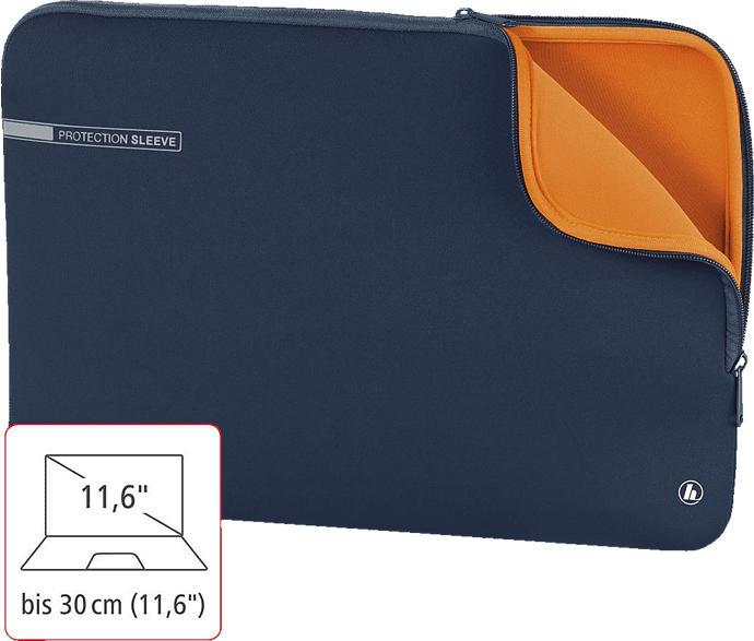 HAMA Neoprene Notebooktasche, Sleeve, Blau/Orange